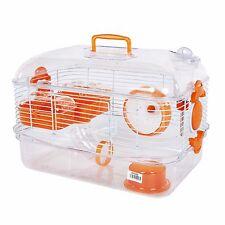 Pet Ting Lilac Hamster Cage Orange - For Hamsters, Dwarf Hamsters, Gerbil Etc