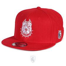 OG Abel OGABEL Men's Pitbull Pit Snapback Hat Red Baseball Cap Skate Streetwear
