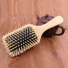 Professional Wood Pin Hair Brush Cushion Massage Hair Comb Brush Heath