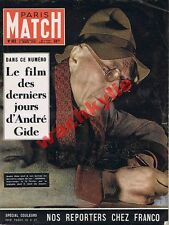 Paris Match n°102 du 03/03/1951 André Gide Franco Espagne Italie Poliakoff