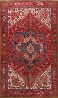 Vintage Traditional Wool Area Rug Hand-Knotted Excellent Oriental Carpet 8'x11'