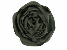 ARMANI COLLEZIONI Black Flower Brooch Pin Made in Italy