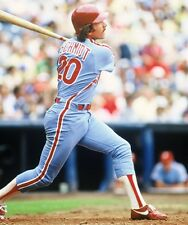 87 MIKE SCHMIDT Philadelphia Phillies BASEBALL ACTION Glossy Photo 8x10 PICTURE