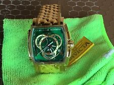 New Invicta 6465 s1 Rally Green Dial Swiss Chronograph 48mm Classy Time piece