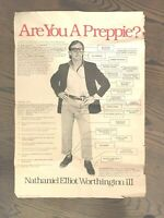 """Vintage """"Are You a Preppy?"""" Original Poster --  1979 Punch Posters"""
