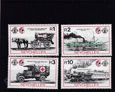 More details for seychelles mnh stamp set 1989 red cross 125th anniversary sg 751-754