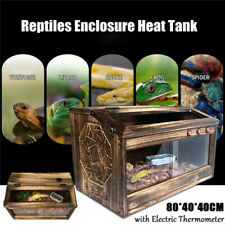 Extra Large Reptile Cage Wooden Pet Turtle Habitat Lizard Insect Amphibian House