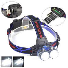 Camping 6000Lm 2xXML T6 LED Hunting Linterna Headlight Head Lamp Torches AAA AA