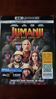 Jumanji The Next Level (4K Ultra HD+Blu-Ray+Digital)- FACTORY SEALED