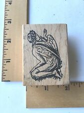 Ornamentum Rubber Stamps - Male Angel from the back - 1993