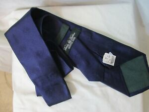 "Beautiful New Deep Blue BROOKS BROTHERS ""Logo"" 100% Silk Tie-NWT"