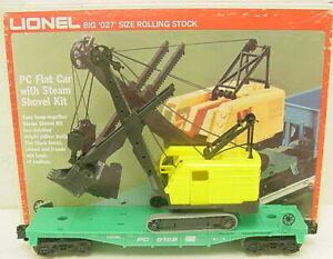Lionel 6-9158 PC Flatcar w/Steam Shovel Kit LN/Box
