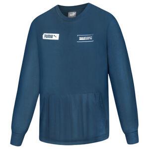 PUMA NU-TILITY Herren Crew Sweatshirt Pulli Pullover 581322-43 Gr. M blau neu