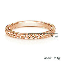 Women Simple Fashion Rose Gold Filled Wedding Rings for Women Jewelry Gifts