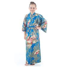 10 ans à 11 coton bleu japonais filles KIMONO