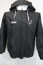 SAN JOSE SHARKS NHL Hockey HOODED Full Zip CCM Casual Jacket L