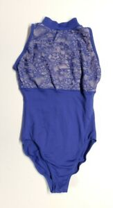 Natalie Dancewear Mock Neck Tank Leotard, Oxford (Royal Blue), Size Medium Child