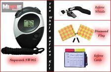 NUOVISSIMO FLAG diamante con cordino, FISCHIO, Arbitro CARD & cronometro (sw005)