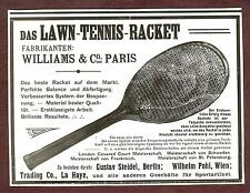 Lawn-tenis-raquetas, fa. williams & co., París 1906