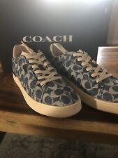 COACH Women's Lowline Sneakers Denim ❤️❤️❤️