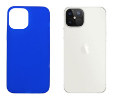 "Funda Carcasa Gel TPU Silicona Lisa Para Apple iPhone 12 Pro Max (5G) 6.7"" Azul"