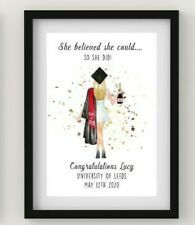 Personalised Graduation Print, Best Friends We did it, Class of 2020, Daughter