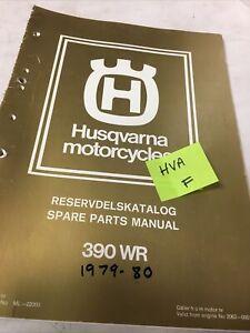 Husqvarna 390WR Wr 390 WR390 Catálogo Piezas Repuesto Edición 1978