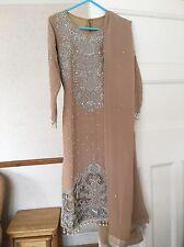 Pakistani indian designer suit kameez capri stonework georegette wedding party