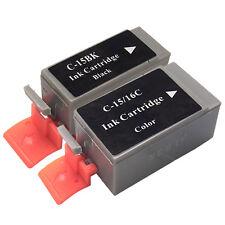 2 Tintenpatronen kompatibel für Canon PGI 15 CLI 15/16C Canon PIXMA  ip90 ip90v