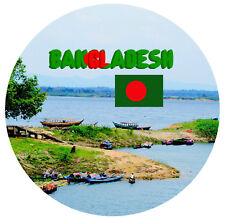 BANGLADESH -  SOUVENIR NOVELTY ROUND FRIDGE MAGNET - FLAG / SIGHTS / GIFTS