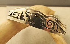 BEAUTIFUL  VINTAGE  SOUTHWEST  EAGLE CUFF  BY  TRINIDAD  LUCAS  STERLING