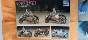Japanese WW 2 motorcycle type 97 with sidecar in 1/48 scale by Hasegawa