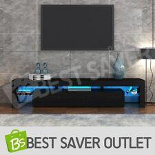 TV Stand Cabinet Entertainment Unit 189cm Wood Furniture 2 Drawers w/RGB LED BK