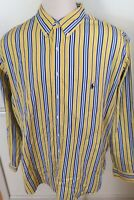 Polo Ralph Lauren Men L/S Shirt Yellow Blue Vertical Stripe 3XLT 3X Tall Classic