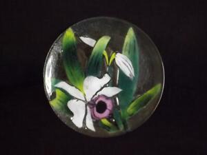 "Saint Luke Fused Glass 15"" Floral Platter St Luke Victor Palumbo"