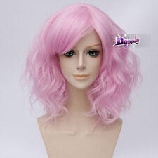 35cm Light Pink Curly Hair Lolita Women Daily Party Anime Cosplay Wig + Cap