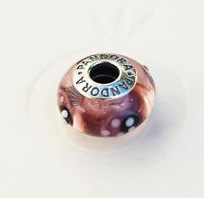 """Genuine Pandora Murano Glass Bead """"Ladybird - purple"""" 790652 - retired"""