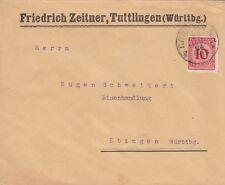 TUTTLINGEN, Briefumschlag 1924, Friedrich Zeitner