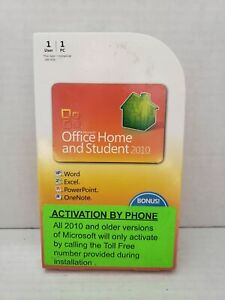 Microsoft Office 2010 Home & Student (Product Key Card for 1 PC) 79G-02020