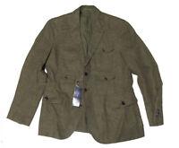 $3,495 Ralph Lauren Purple Label Slim Brown Linen Gareth Sportcoat Blazer Jacket
