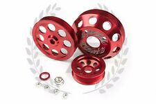 SR20DET light weight aluminum pulley kit S13 RED - 240sx Silvia