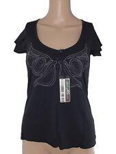 killah miss sixty maglia tshirt donna nero stretch taglia s small