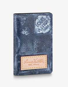 Louis Vuitton Pocket Organizer Damier Salt Blue Virgil Abloh Authentic LV New