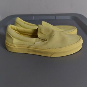 Vans Authentic Off The Wall Womens Size 6.5 Shoes Yellow Slip On Low Top Sneaker
