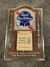 Vintage Pabst Blue Ribbon Beer Sign Calendar -1981/1982 - Full SET NOS - MINT