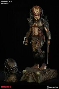 "Sideshow 29"" Scale Predator 2 Maquette City Hunter Predator w/Original Box"