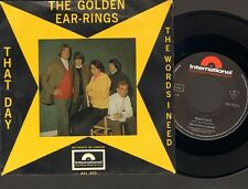 "GOLDEN EARRINGS That Day SINGLE 7"" The Words I Need 1966 Golden Earring NEDERPOP"