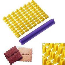 26 Alphabet Letters Number Biscuit Cookie Cutter Press Stamp Embosser Cake Mould