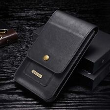 Genuine Leather Phone Waist Pouch Bag Belt Clip Wallet Case Card Cover Holster