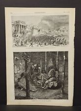 Harper's Weekly Single Pg Interior of an Indian Wigwam 1873 B13#62